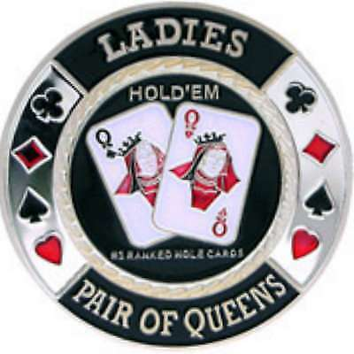 Poker Protector Card Guard Cover in Capsule :  Ladies Sliver