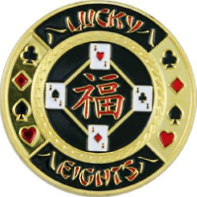 Poker Protector Card Guard Cover in Capsule :  Lucky Eights Gold