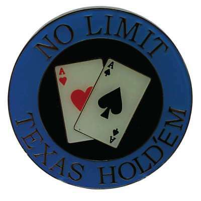 Poker Protector Card Guard Cover : No Limit Texas Holdem Blue