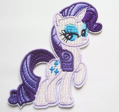1 Embroidered My Little Pony Rarity Iron On Sew On Patch Clothes Craft