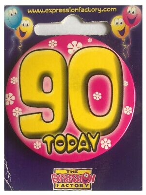 Let's Party Over The Hill 50 TODAY Happy 50th Birthday Badge Mens Ladies 55mm
