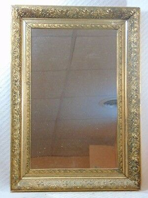 Decorative Antique Victorian Gesso Frame w/ Mirror