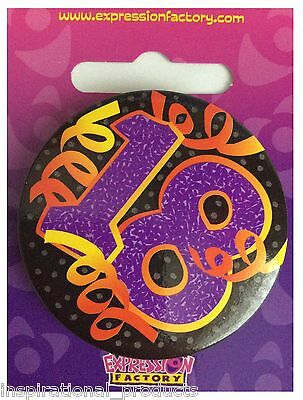 Expressions I AM 18 TODAY Happy 18th Birthday Badge Unisex 55mm Diameter