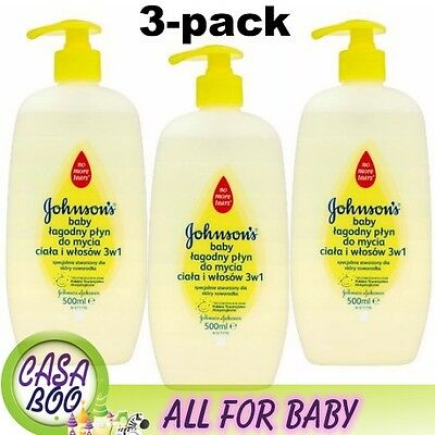 Johnsons Baby Top To Toe 3 x 500ml Johnson, skin,Shampoo. new