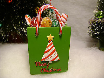 Sugar coated candy in christmas tree Bag Ornament