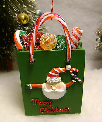 Sugar coated candy in Santa Claus Bag Merry Christmas Tree Ornament
