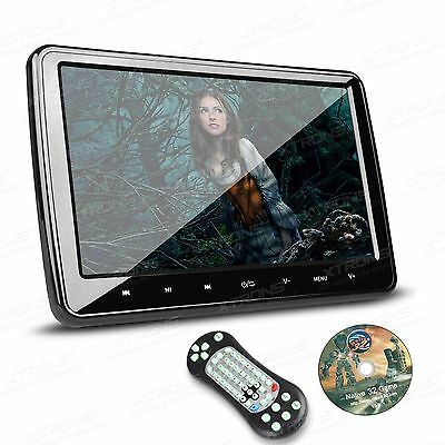 1x HDMI 10 inch LCD Monitor Removable Headrest Portable Car DVD Player Game Disc