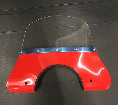 Fly screen red (incl. fixing kit) for Vespa & LML by Cuppini