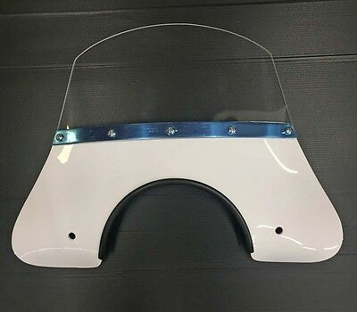 Fly screen white (incl. fixing kit) for Vespa & LML by Cuppini