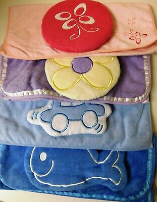 Little Angels EMBROIDED Baby Nappy Change Mat With Pillow - Waterproof Washable