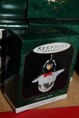 Hallmark 1999 Christmas Bells Penguin MINI Ornament