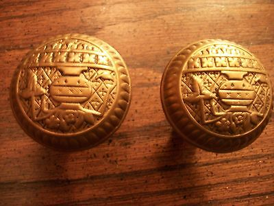 Antique -Victorian -Old-Cast Bronze Door Knobs-#b-126 - C1887 • CAD $44.65