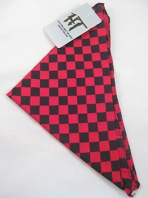 "12 New Wholesale 22"" Square Red & Black Checkered Bandanas #H0115-12"