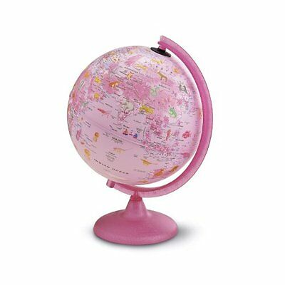 Tecnodidattica Zoo Illuminated Childrens Globe - 25 cm, Pink