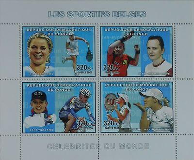 Belgian Sportsmen Table Tennis Cycling m/s Congo DR 2006 MNH Yv.1699-02 #CDR0605