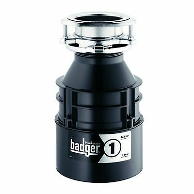 InSinkErator Badger 1/3 HP Continuous Feed Garbage Waste Kitchen Sink Disposal