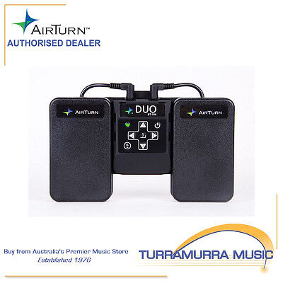 Airturn Duo - Bluetooth Page Turner Pedal Board for Music, Lyrics, Slides & More