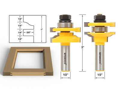 Rail & Stile Router Bits - Matched 2 Bit Standard Ogee -  Yonico 12243