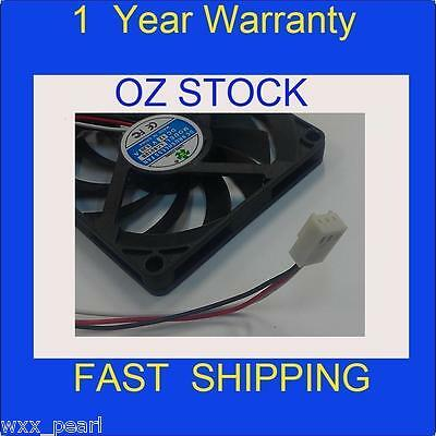 Black slim 12V 80mm x 10mm  PC case cooling Fan cooler 3 Pin 10mm thickness