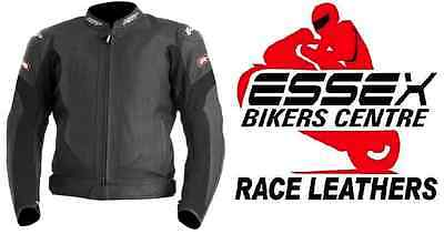 RST R-16 Leather Motorcycle Jacket Black All Sizes Sale Save £££