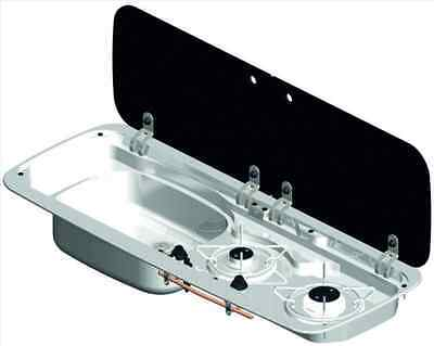 Smev 9222 2 burner hob and sink. Sink on LEFT side VWT5 Cooker Campervan Camper