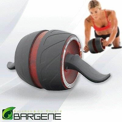 Fitness Ab Carver Pro Exercise Wheel Roller Six Pack Abs Workout Home Gym Red