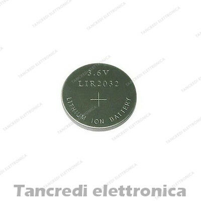 Batteria ricaricabile LIR 2032 litio bottone rechargeable coin battery lithium
