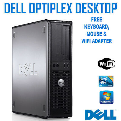 DELL Optiplex 780 Desktop PC Core 2 Duo 2.93GHz 4GB 160GB Windows 7 Pro+ WIFI