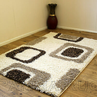 Thick Soft Modern Shaggy Rugs - 5Cm Pile Non-Shed Rug - Small To X Extra Large