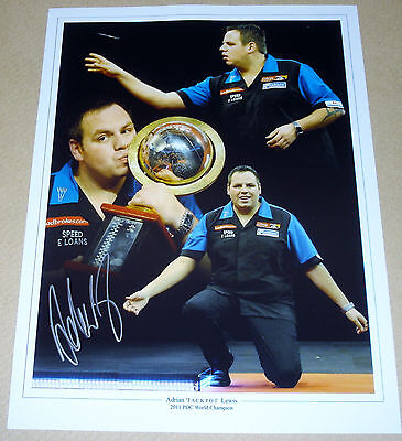 Adrian Lewis Darts Personally Signed Autograph 16X12 Photo