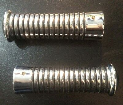 Sundance handle bar grips chrome for Vespa LML & Lambretta