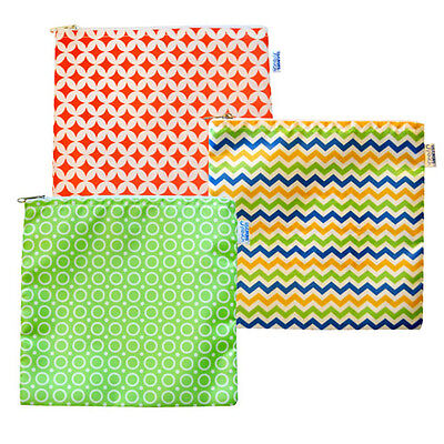 Reusable Cloth Sandwich Bags - Set of 3 - Spunky Collection