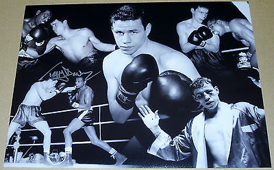 Terry Downes Boxing Personally Hand Signed 16X12 Photo