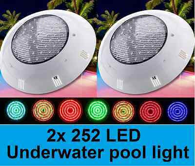 NEW 2x 252 LED SWIMMING POOL STRONG LIGHT RGB  WITH 7 COLOUR  REMOTE CONTROL