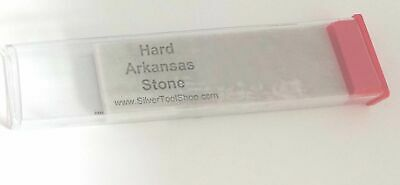 Hard Arkansas Stone Fine Sharpening Stone used to Sharpen Tools in plastic tube