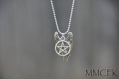 Supernatural Inspired Castiel Wings Necklace Dean and Sam Jewelry US Seller