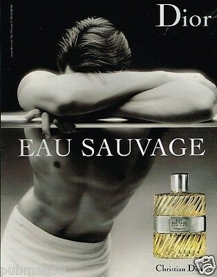 Publicité advertising 2008 Parfum eau Sauvage de Christian Dior
