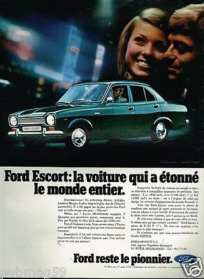 Publicité advertising 1970 Ford Escort