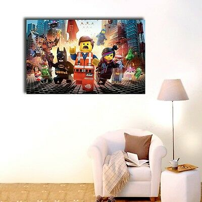Lego Movie Stretched Canvas Prints Framed Painting Wall Art Kids Nursery Decor
