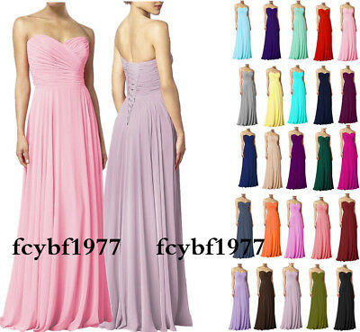 New Bridesmaid Dresses Long Chiffon Prom Party Evening Wedding Gown Size 6-26