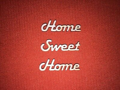 10 x HOME SWEET HOME mini -WOODEN WORDS for PLAQUES TAGS SIGNS BOOK ART CRAFT