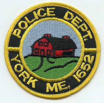 old vintage YORK MAINE ME POLICE PATCH