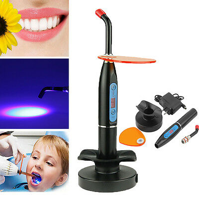 2016 New Dental Wireless Cordless LED Cure Curing Light Lamp 2000mw Tool US Plug