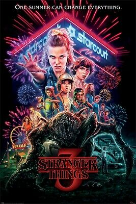 "Stranger Things Season 3 ""Summer of '85"" Poster 24x36 inches ""One Summer Can..."""