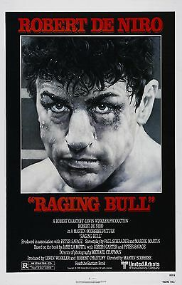 RAGING BULL Movie Poster Boxing Fighter