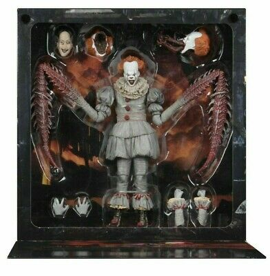 """Neca IT - 7"""" Scale Action Figure - Ultimate Pennywise The Dancing Clown (2017)"""