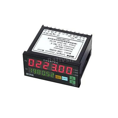FH8-6CRNB Digital Counter Length Batch Meter 1 Relay Output with 2 Bracket R2Q3