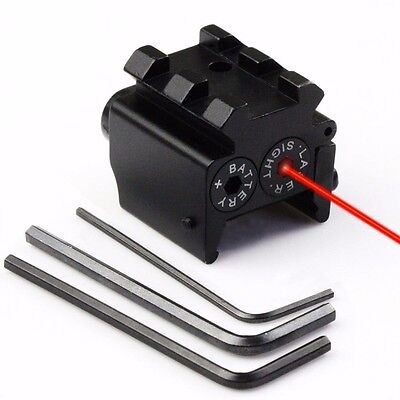 Hunting Tactical Red Dot Laser Sight Scope Adjustable Picatinny Rail for Pistol