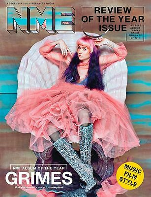GRIMES Photo Cover interview UK NME MAGAZINE DECEMBER 2015