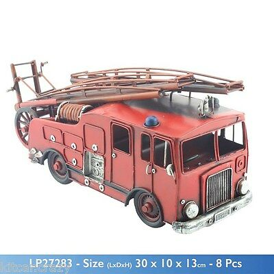 Classic Pump Escape Fire Engine Tin Model, Collectable